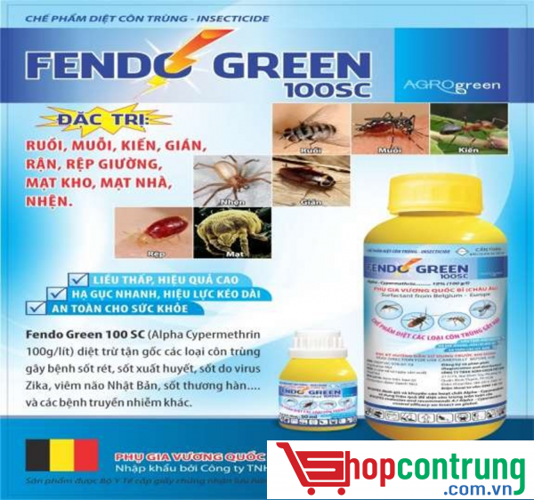 thuốc phun muỗi fendo green 100sc