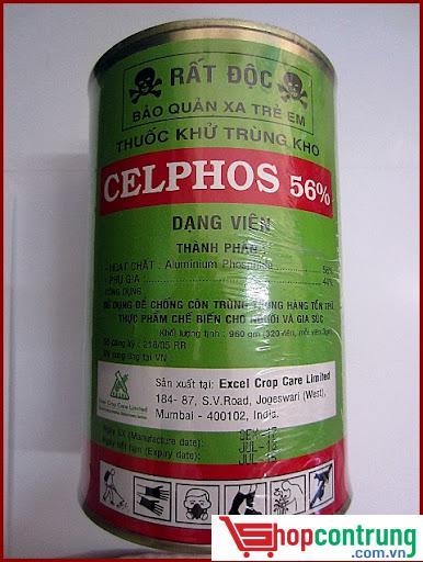 Thuốc khử trùng kho CELPHOS 56% dạng hộp